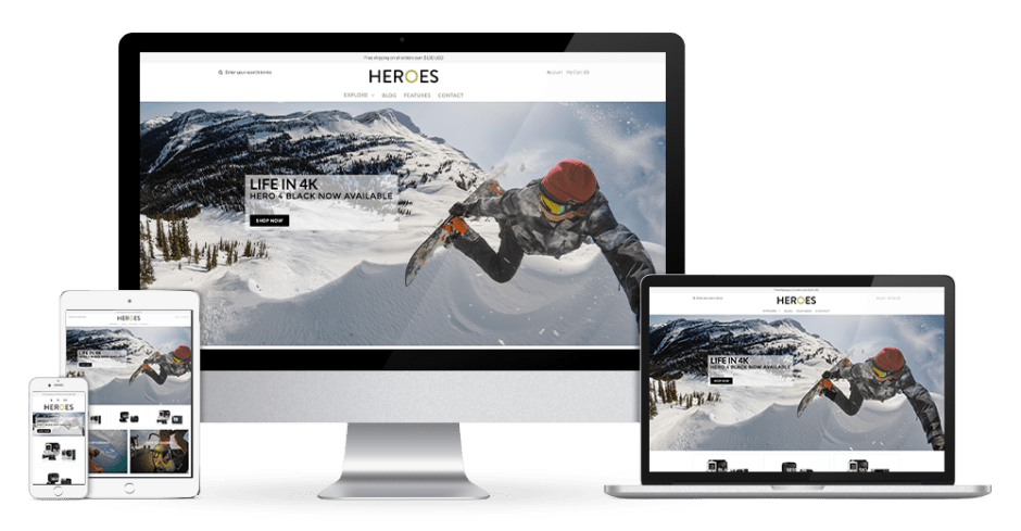 Bootstrap single product Shopify themes