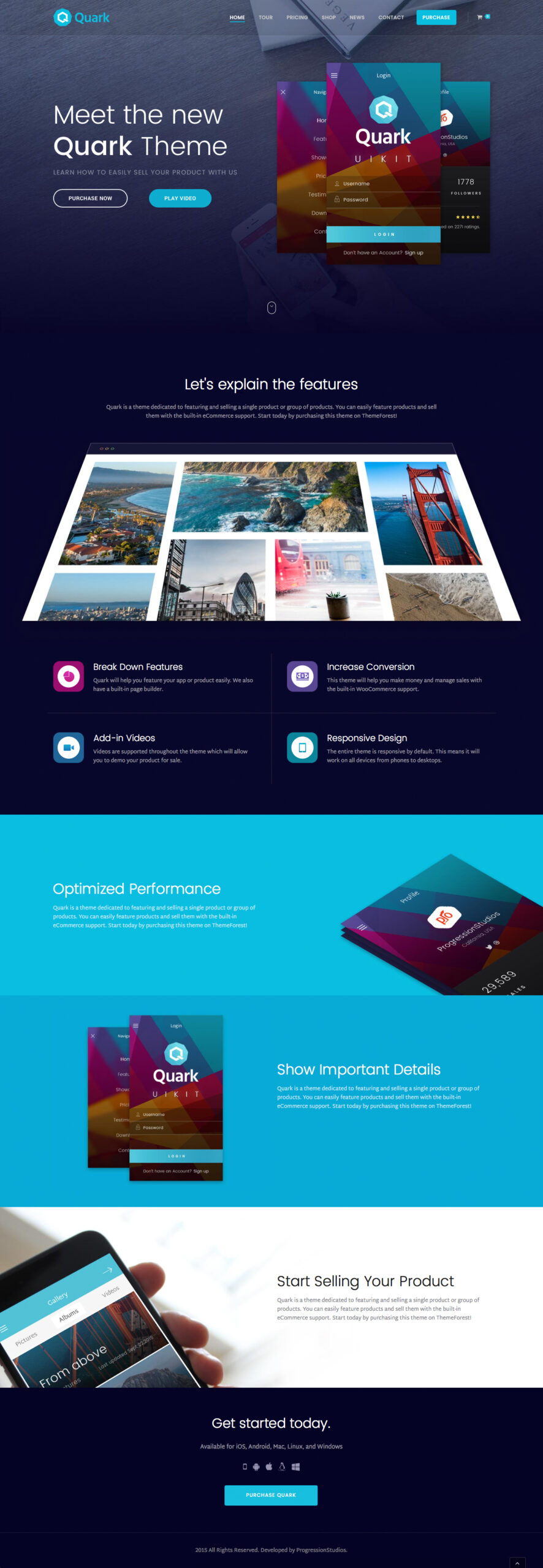 Boostrap Single page website templates