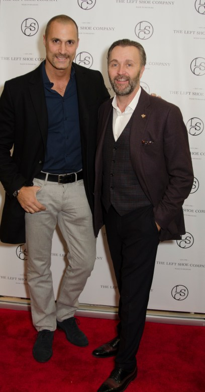 Nigel Barker and Gordon Clune at the Left Shoe Company NYC Pop-Up Opening