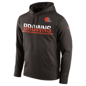 Cleveland Browns Nike Brown Sideline Circuit Pullover Performance Hoodie