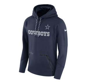 Dallas Cowboys Nike Navy Sideline Player Performance Pullover Hoodie