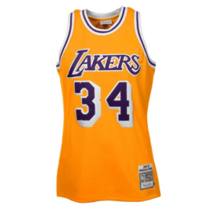 ae37dc6b4208 Mitchell   Ness Shaquille O Neal Los Angeles Lakers 1996-97 Throwback  Authentic Home