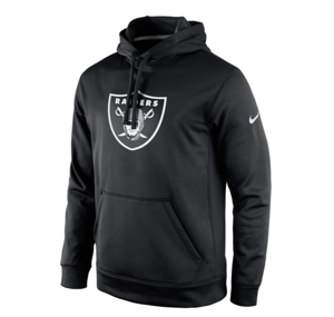 Oakland Raiders Nike Black Circuit Logo Essential Performance Pullover Hoodie
