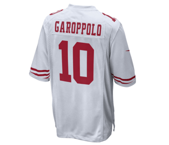 finest selection 9f33e e4f4a Nike | San Francisco 49ers | Jimmy Garoppolo | Game Jersey | White