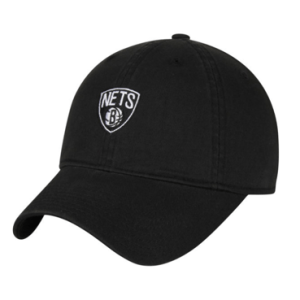 Brooklyn Nets Mitchell & Ness Black Slouch Adjustable Hat