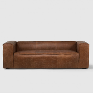 Andreas Leather Couch – Tan
