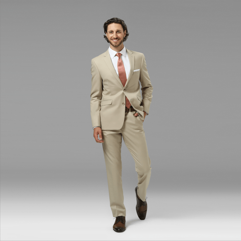 Tan Mens Suit | Khaki Tan