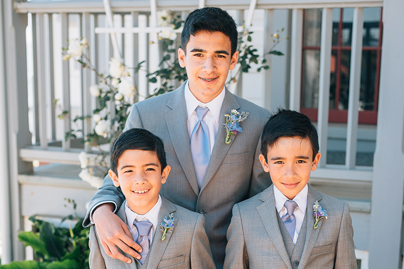 Three kids in formal suits for boys