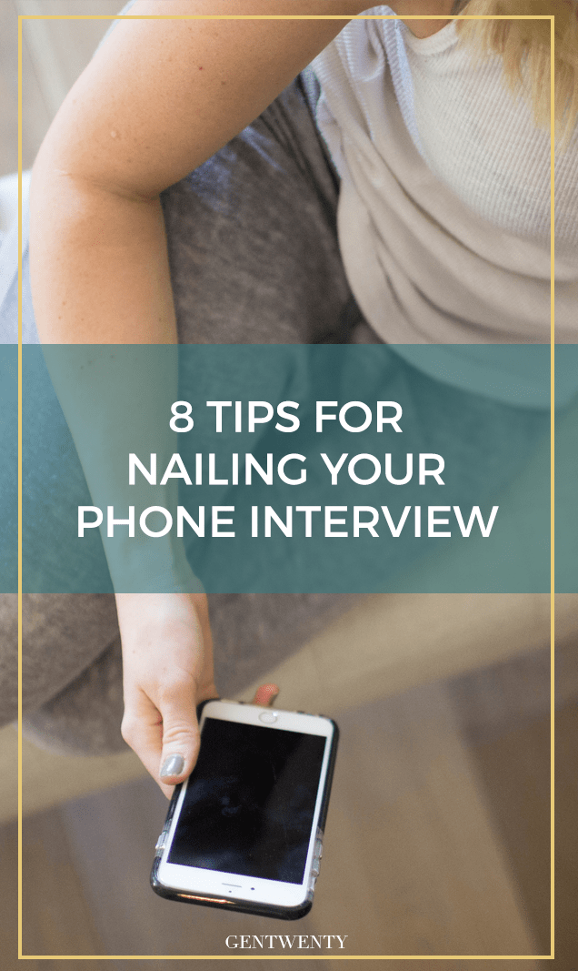 Without body language, the way you project yourself over the phone can make or break you during a phone interview. Here are 8 tips for nailing it.