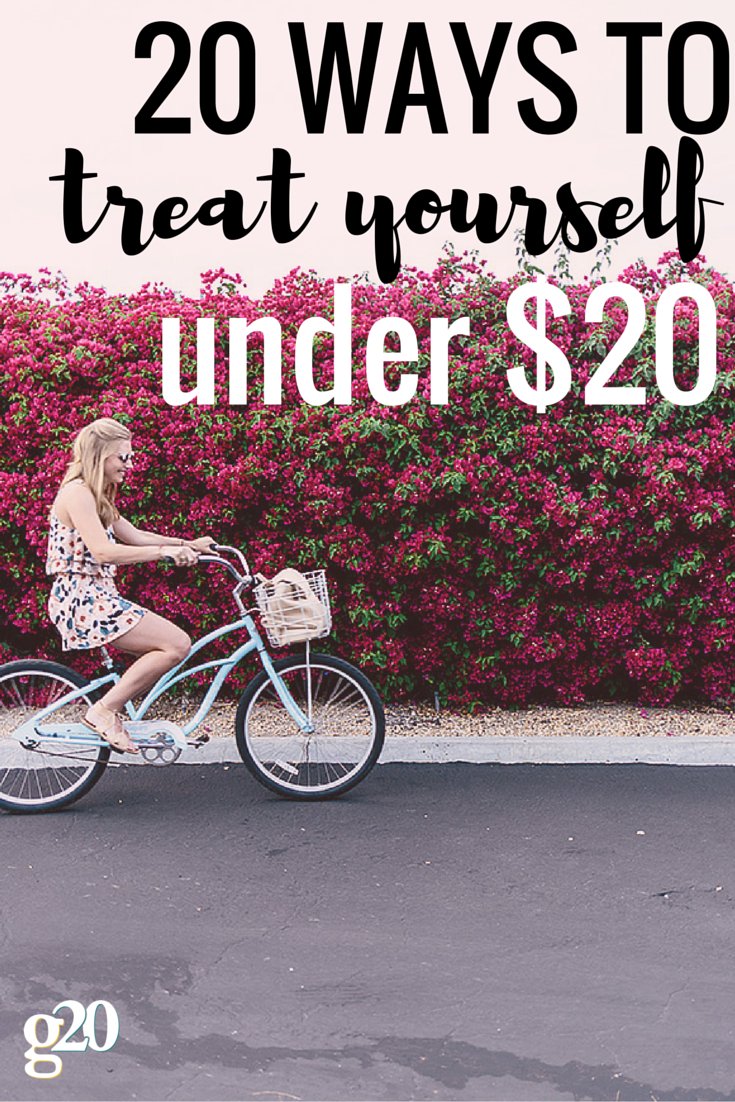 Treating yourself to a little something nice or a bit of self-care doesn't have to break the bank! Check out these 20 ways to treat yourself (and they're all less than 20 bucks).
