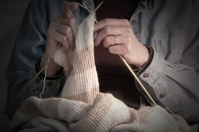 Learning how to knit