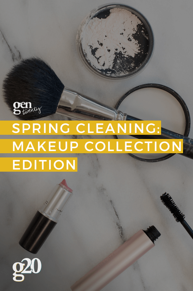 Liquid products are only good for 6-12 months. Powders? 1-2 years. It's time to spring clean your makeup collection to make sure you aren't spreading bacteria on your beautiful face!