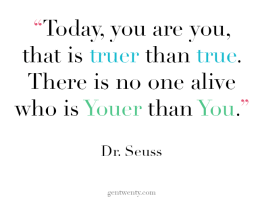 Being your truest self is giving back