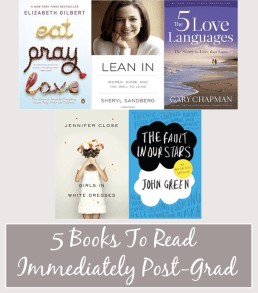 Five Books to Read Immediately After Graduation