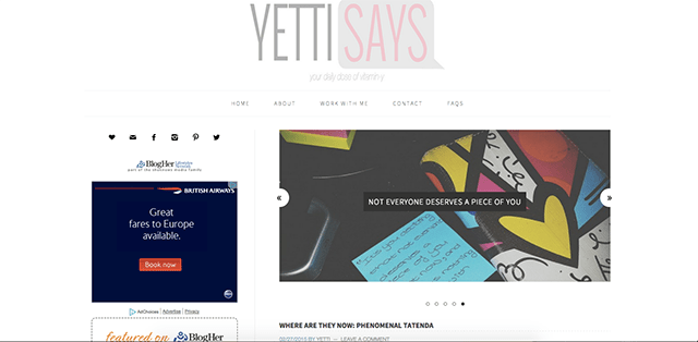 YettiSays.com: Your Daily Dose of Vitamin Y