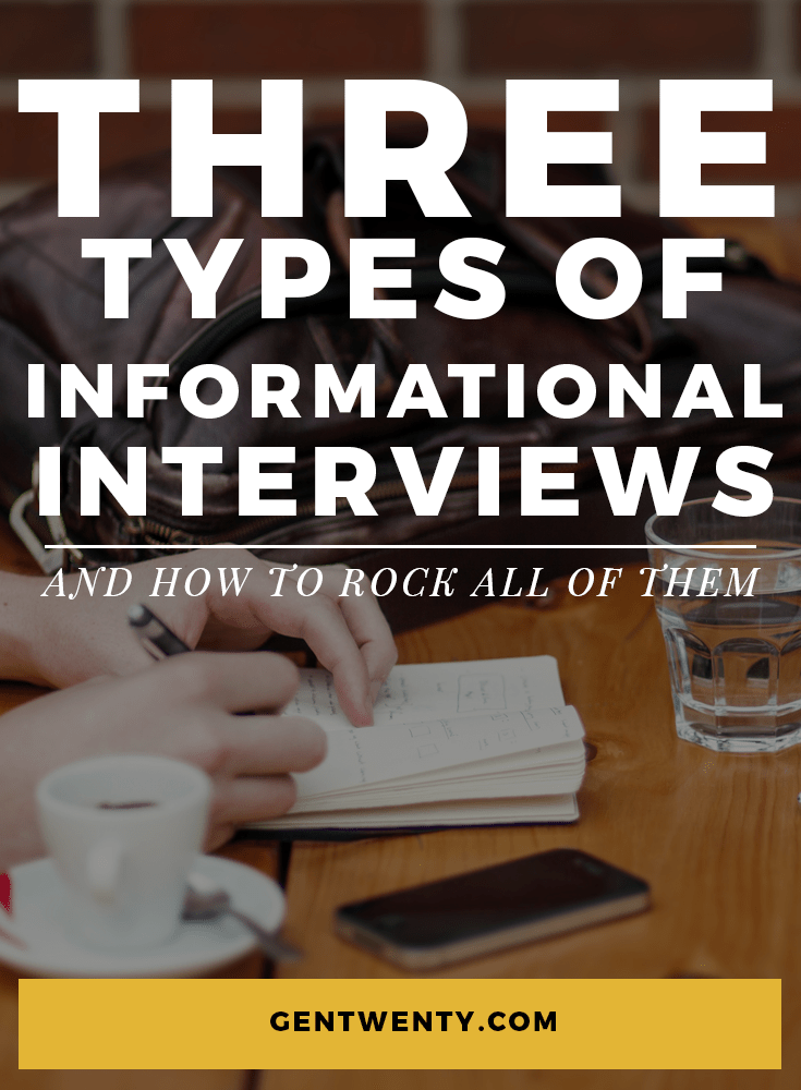 If an informational interview were a shape, it would be an amorphous blob. It's tricky because it can be anything -- it depends on what your goals are, who you're meeting, and what type of career they have.