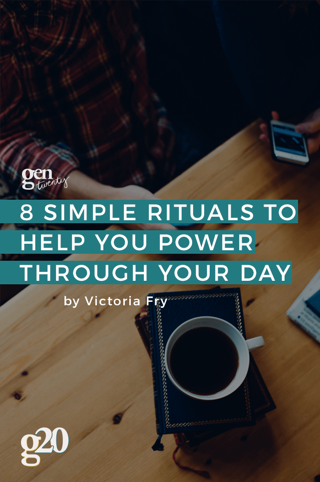 These 8 simple rituals (or daily milestones) will help you power through each day with ease. Click through for best results!