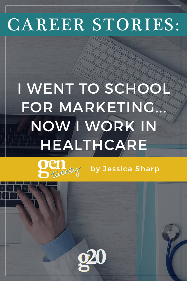 I changed my major 3 times and finally landed on marketing. Now? I work in healthcare. Here is the story of my career journey.