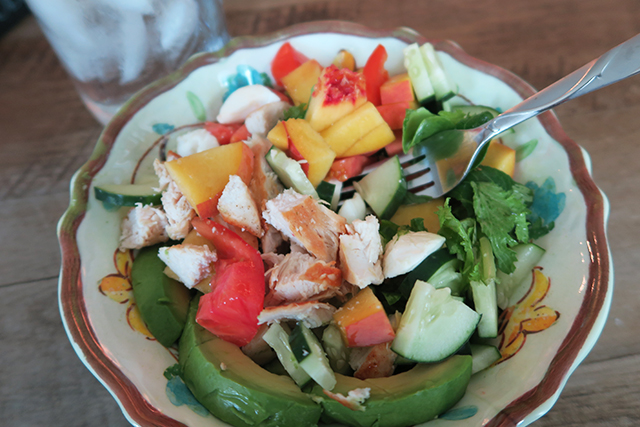 Peach Mozzarella Chicken Salad