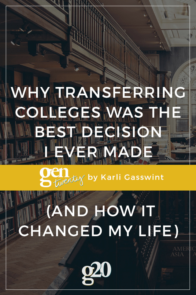 If something seems off about your college experience, you might need to transfer schools. I transferred schools and it was the best decisions I ever made! Click through to read why.