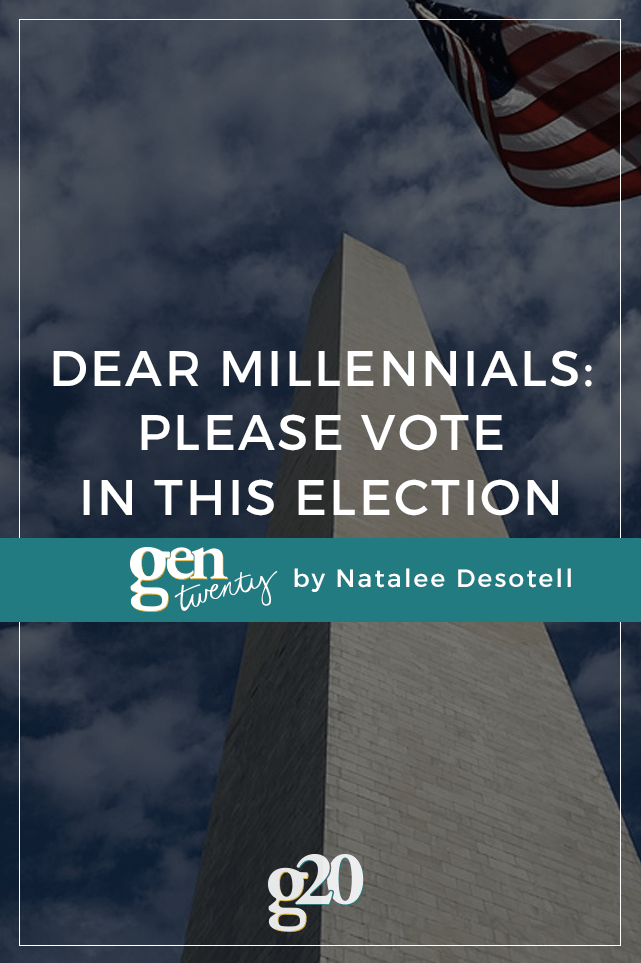 Only 41% of millennials are planning to vote compared to 75% of people over 30. Who's voice do you want running the country?
