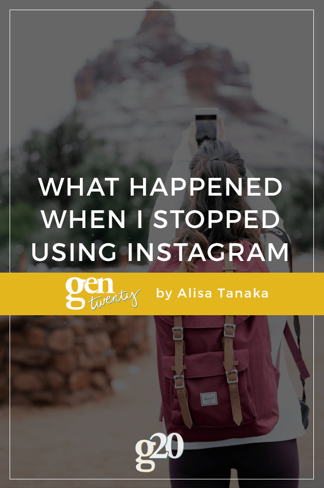 As a visual person, I love Instagram. I tried to go without it for two weeks -- here is what happened.
