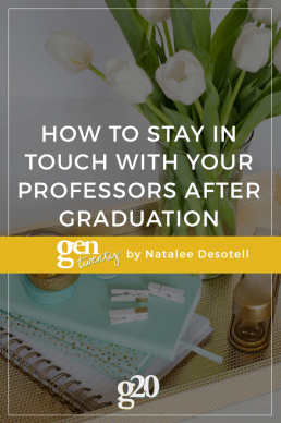 How to Stay in Touch With Your Professors After Graduation