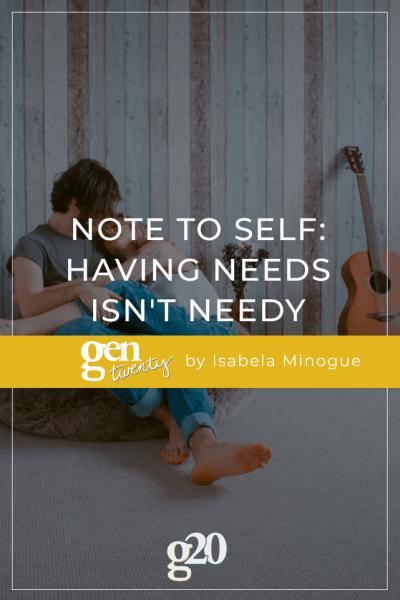 having needs isn't needy