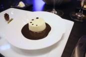 Light gruyere soufflé, black truffle coulis