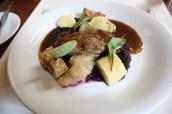 Duck leg confit, red cabbage jam, potato dumplings