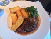 Rump of Belted Galloway with shin and pickled walnut croquettes, salad, triple cooked chips and béarnaise