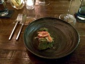 Mangalica Pork Collar, Nuka Vegetables, Nori, Cinnamon Infused Dashi, Pickled Sesame