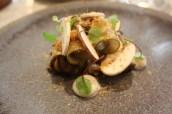 Celeriac, pear, fermented mushrooms & hazelnut