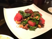 Crispy Duck and Fresh Watermelon Salad with Cashew Nuts