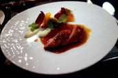 Roasted Challans duck with lavender, coriander, fennel and honey