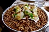 Marinated Gilthead, Clear Tomato Extract, Crab Bread, Tom Ka Gai, Mayonnaise of Coriander, Piment d'Espelette, Dill