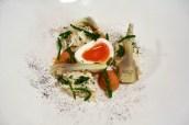 Paignton Crab, Violet Artichoke, Hen Egg, Black Curry