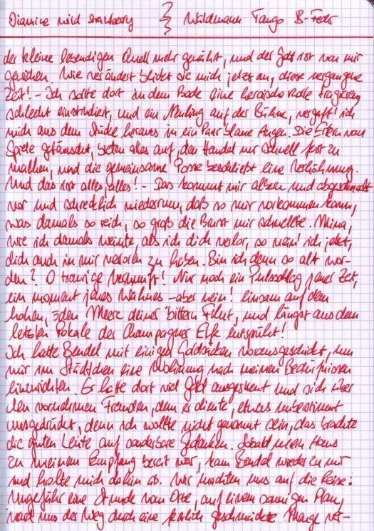 Diamine Wilde Erdbeere - Fliesstext