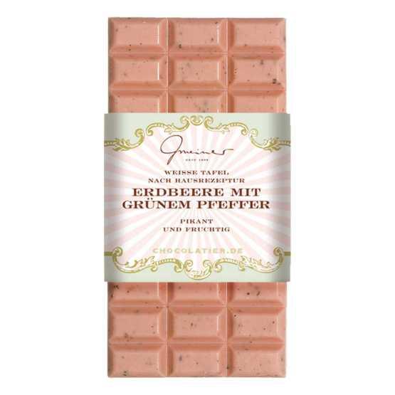 Genusswerk Schokolade Erdbeer mit grünem Pfeffer