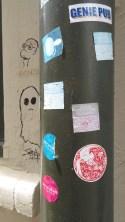 Stickers and grafitti near the Peranakan Museum