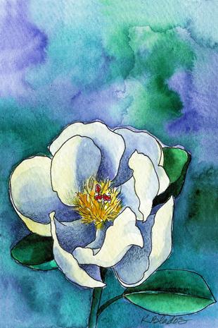Karen Blados ink and watercolor