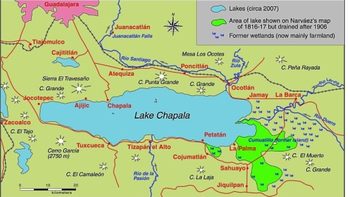 The eastern end of Mexico's largest lake, Lake Chapala, is amputated |  Geo-Mexico, the geography of Mexico