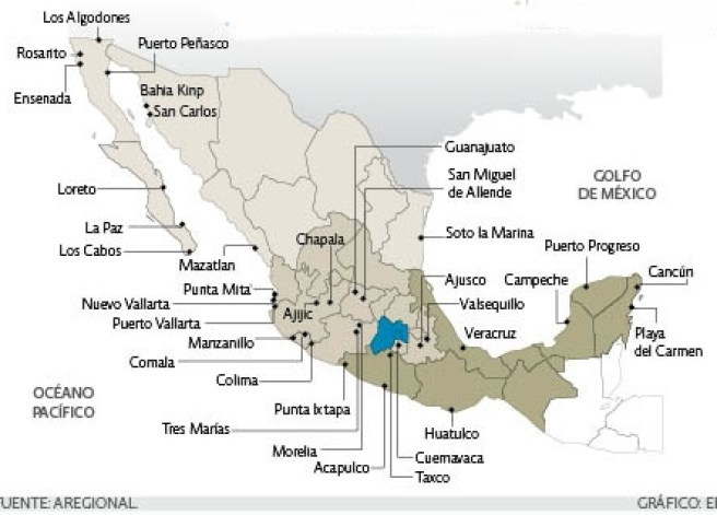 Where in Mexico will U.S. baby-boomers choose to live? | Geo-Mexico, the  geography of Mexico