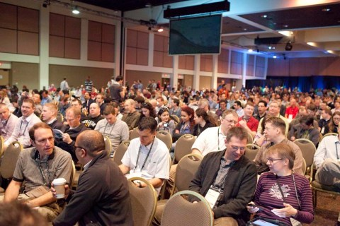 Plenary Session der Esri DevSummit in Palm Springs, CA