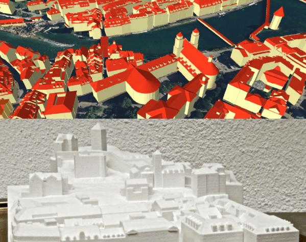 Stadt Luzern: einmal digital, einmal analog