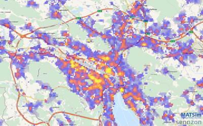 Bankomaten-Whitespot-Analyse von Senozon für Credit Suisse.