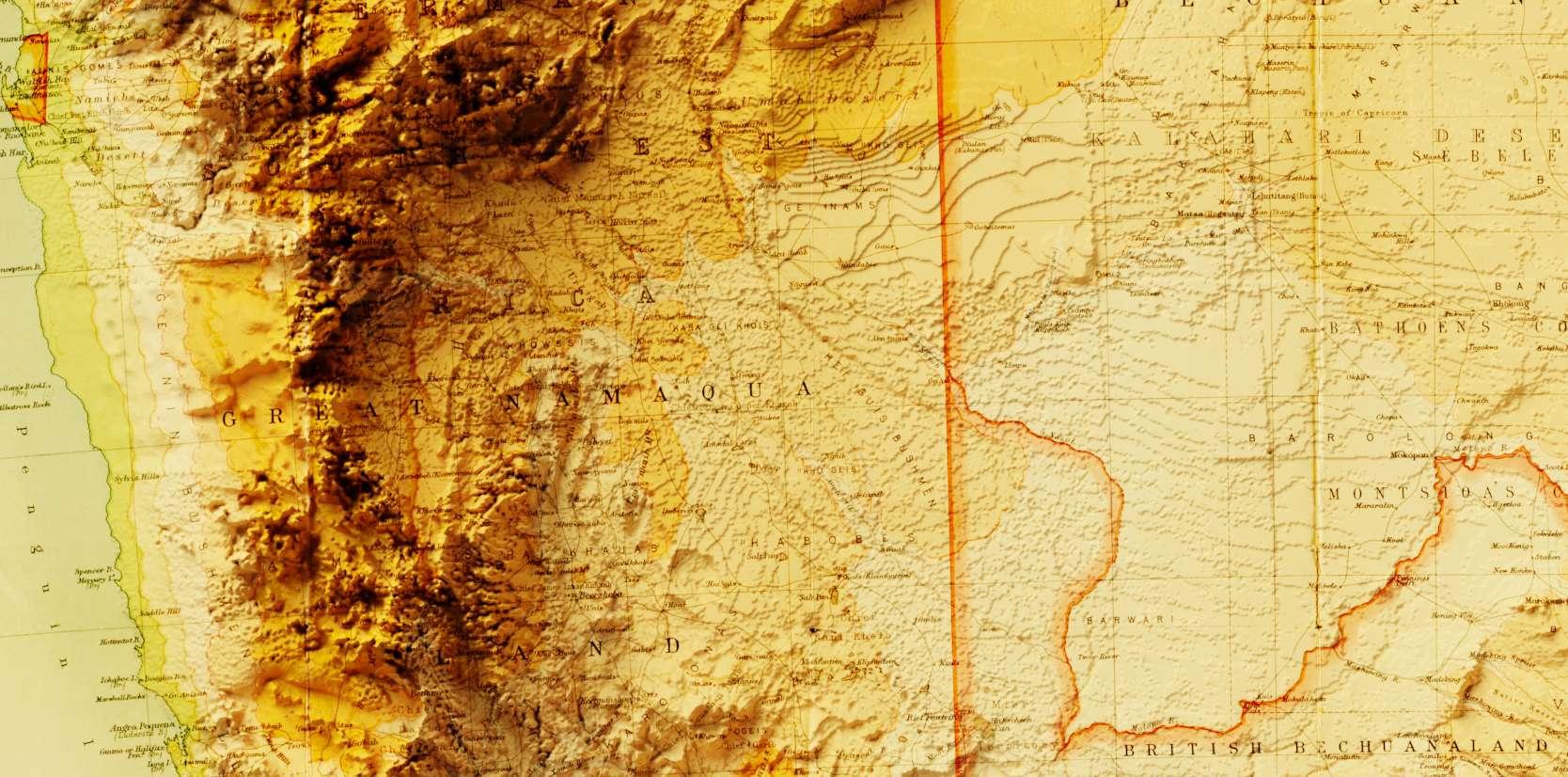 Afrique du sud Geological Map