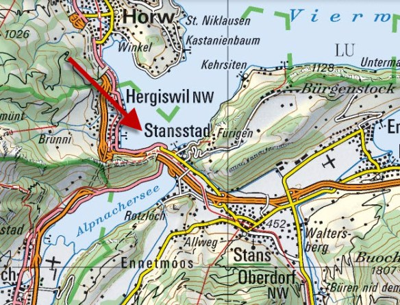 Stansstad und Stans vom Schwendelberg
