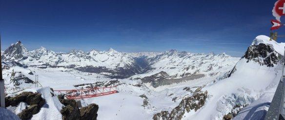 Aussicht vom Klein Matterhorn