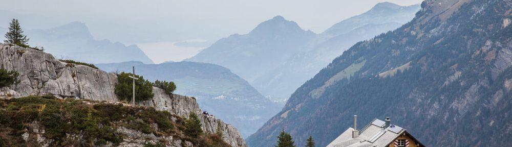 Lidernenhütte über dem Vierwaldstättersee